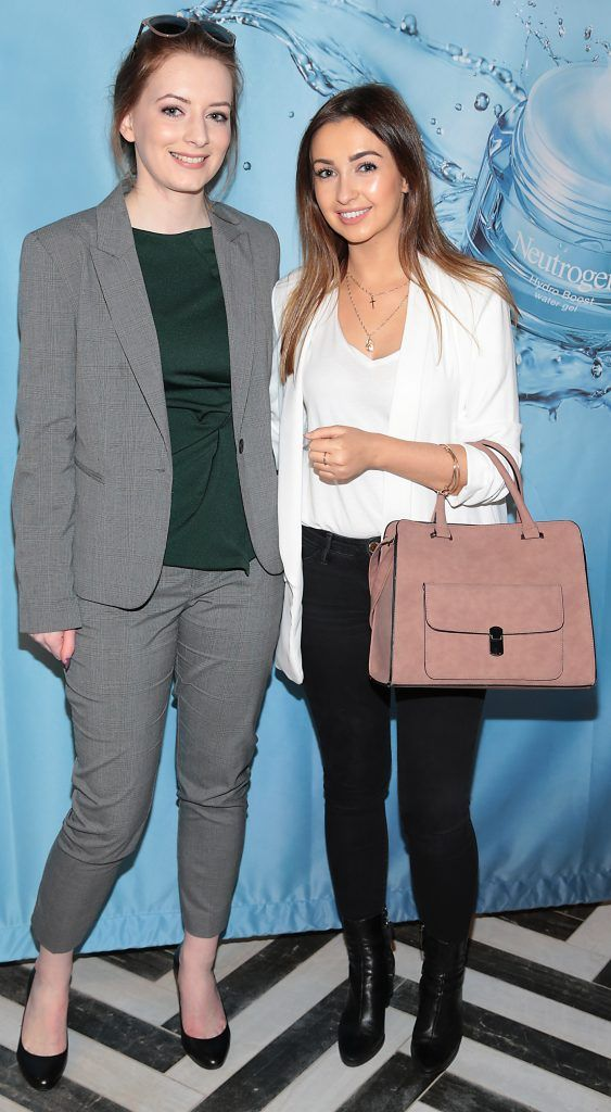 Nicole De Vere and Zoe Behan at Neutrogena's Mask Collection launch and Hydro Boost Showcase in Dublin's Iveagh Garden Hotel. Photo by Brian McEvoy