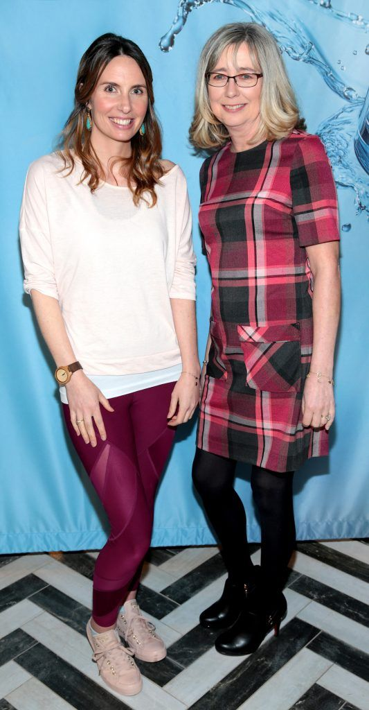 Lydia Sasse and Paula Moriarty at Neutrogena's Mask Collection launch and Hydro Boost Showcase in Dublin's Iveagh Garden Hotel. Photo by Brian McEvoy
