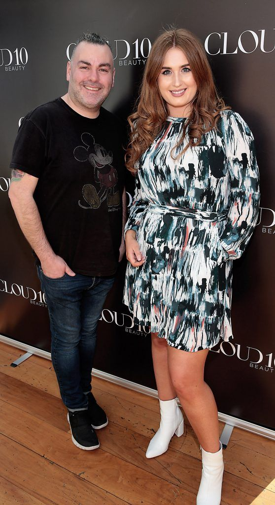 Leonard Daly and Megan Palmer at the Cloud 10 Beauty Showcase with Caroline Hirons at the Marker Hotel, Dublin. Photo: Brian McEvoy