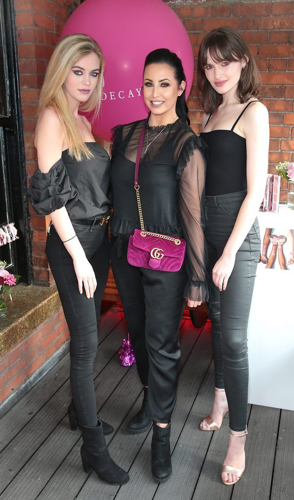 Robyn Byrne, Danielle Roberts and Maria Traynor  pictured at The Urban Decay Backtalk Palette launch at Hang Dai, Dublin. Pic Brian McEvoy