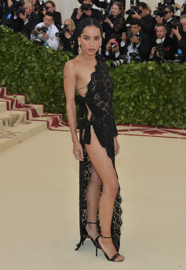 NEW YORK, NY - MAY 07:  Zoe Kravitz attends the Heavenly Bodies: Fashion & The Catholic Imagination Costume Institute Gala at The Metropolitan Museum of Art on May 7, 2018 in New York City.  (Photo by Neilson Barnard/Getty Images)