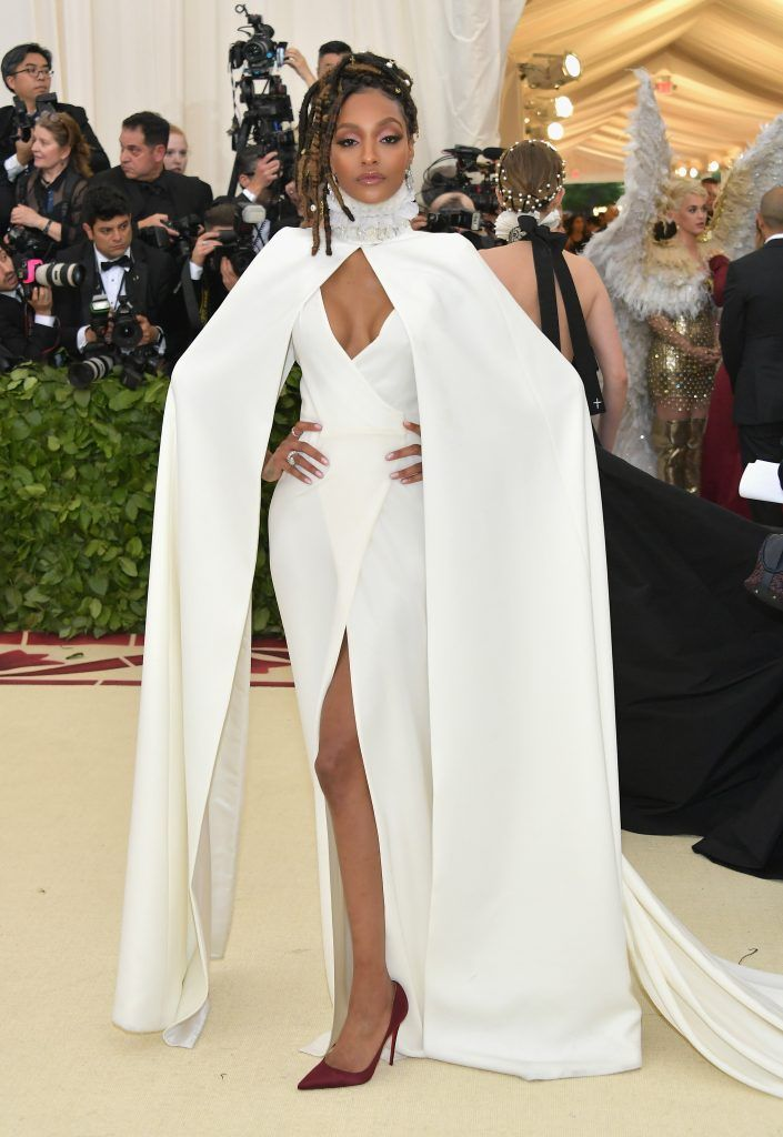NEW YORK, NY - MAY 07:  Jourdan Dunn attends the Heavenly Bodies: Fashion & The Catholic Imagination Costume Institute Gala at The Metropolitan Museum of Art on May 7, 2018 in New York City.  (Photo by Neilson Barnard/Getty Images)