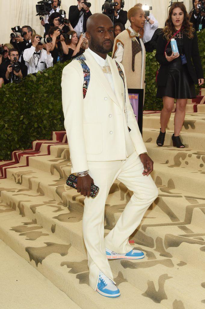 NEW YORK, NY - MAY 07:  Virgil Abloh attends the Heavenly Bodies: Fashion & The Catholic Imagination Costume Institute Gala at The Metropolitan Museum of Art on May 7, 2018 in New York City.  (Photo by Jamie McCarthy/Getty Images)