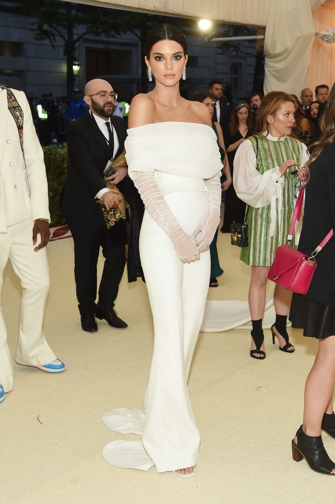 NEW YORK, NY - MAY 07:  Kendall Jenner attends the Heavenly Bodies: Fashion & The Catholic Imagination Costume Institute Gala at The Metropolitan Museum of Art on May 7, 2018 in New York City.  (Photo by Jamie McCarthy/Getty Images)