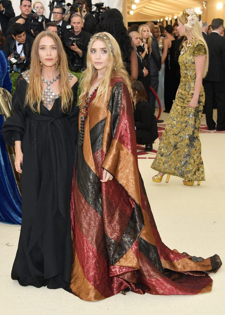 NEW YORK, NY - MAY 07:  Mary-Kate Olsen and Ashley Olsen attend the Heavenly Bodies: Fashion & The Catholic Imagination Costume Institute Gala at The Metropolitan Museum of Art on May 7, 2018 in New York City.  (Photo by Neilson Barnard/Getty Images)