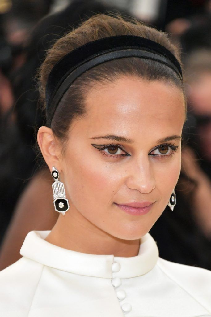 NEW YORK, NY - MAY 07:  Alicia Vikander attends the Heavenly Bodies: Fashion & The Catholic Imagination Costume Institute Gala at The Metropolitan Museum of Art on May 7, 2018 in New York City.  (Photo by Neilson Barnard/Getty Images)