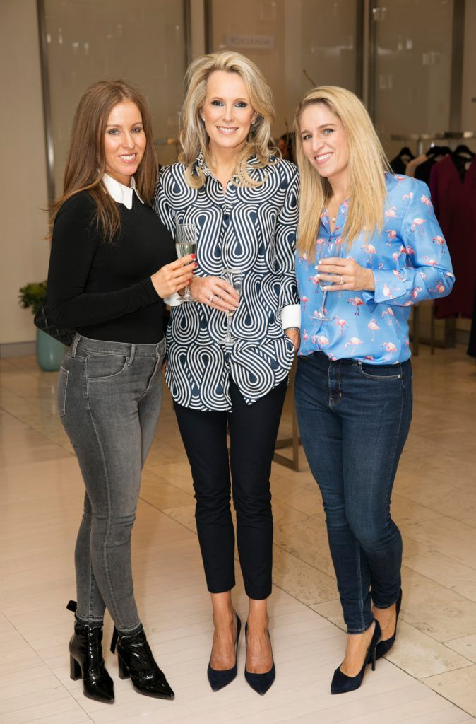 Beatrice Gubbins, Lorraine O'Connor and Aileen Wallace pictured as fashion designer Roksanda Ilincic previewed her stunning new Pre-Fall 2018 collection in The Designer Rooms. Photo: Ailbhe O'Donnell