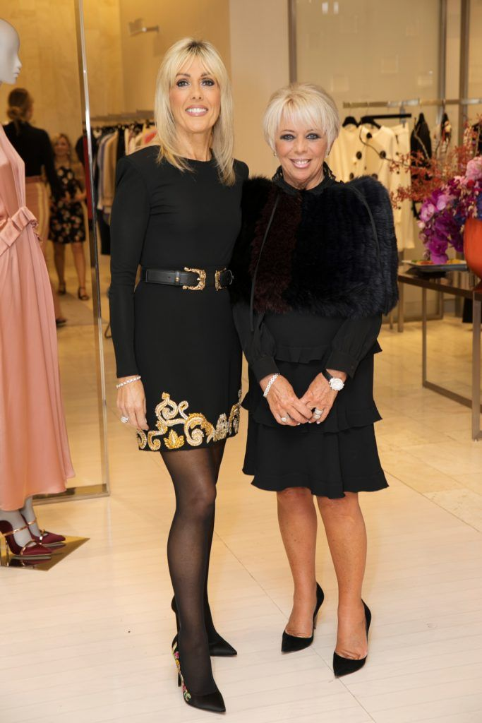 Leslie Herbert and Ina Georgina Johnston pictured as fashion designer Roksanda Ilincic previewed her stunning new Pre-Fall 2018 collection in The Designer Rooms. Photo: Ailbhe O'Donnell