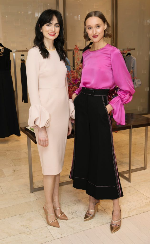 Maria Oxley Boardman and Tabea Weyrauch pictured as fashion designer Roksanda Ilincic previewed her stunning new Pre-Fall 2018 collection in The Designer Rooms. Photo: Ailbhe O'Donnell
