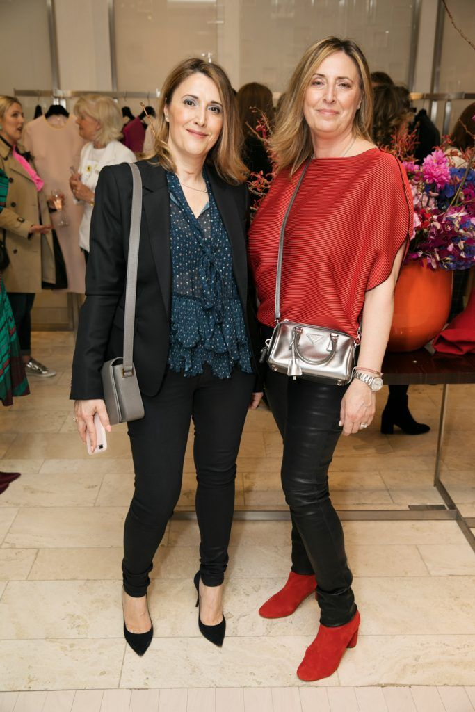Sabrina Cence and Katia Tramontozzi pictured as fashion designer Roksanda Ilincic previewed her stunning new Pre-Fall 2018 collection in The Designer Rooms. Photo: Ailbhe O'Donnell