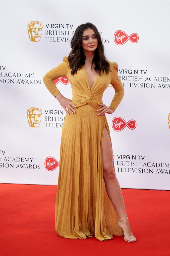 Amy Jackson attends the Virgin TV British Academy Television Awards at The Royal Festival Hall on May 13, 2018 in London, England.  (Photo by Jeff Spicer/Getty Images)