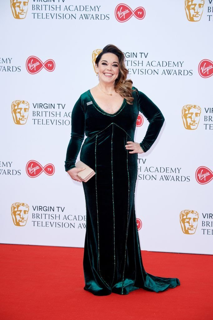 Lisa Riley attends the Virgin TV British Academy Television Awards at The Royal Festival Hall on May 13, 2018 in London, England.  (Photo by Jeff Spicer/Getty Images)