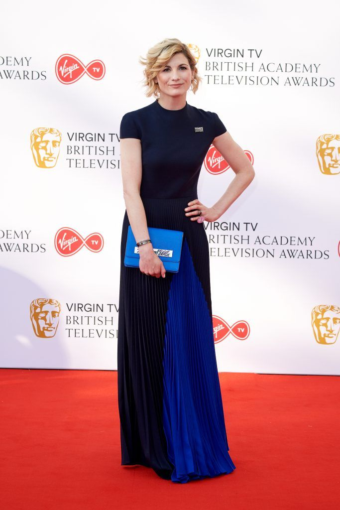 Jodie Whittaker attends the Virgin TV British Academy Television Awards at The Royal Festival Hall on May 13, 2018 in London, England.  (Photo by Jeff Spicer/Getty Images)