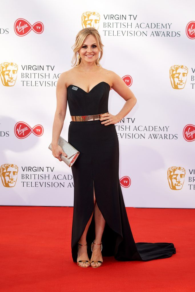 Tina O'Brien attends the Virgin TV British Academy Television Awards at The Royal Festival Hall on May 13, 2018 in London, England.  (Photo by Jeff Spicer/Getty Images)