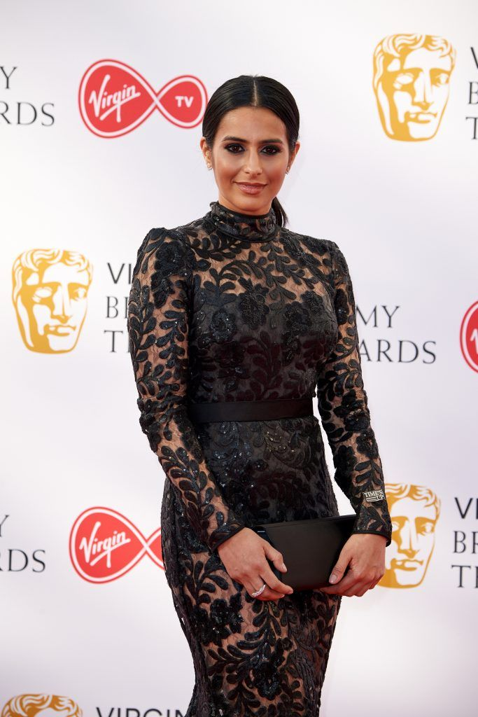 Sair Khan attends the Virgin TV British Academy Television Awards at The Royal Festival Hall on May 13, 2018 in London, England.  (Photo by Jeff Spicer/Getty Images)