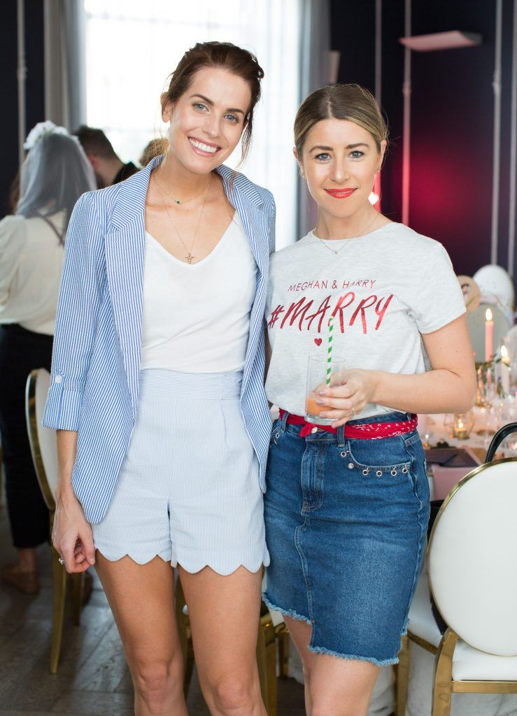 Holly White & Stephanie Game pictured at the Primark Bridal Brunch to celebrate the Royal Wedding at 25 Fitzwilliam Place. Photo: Anthony Woods