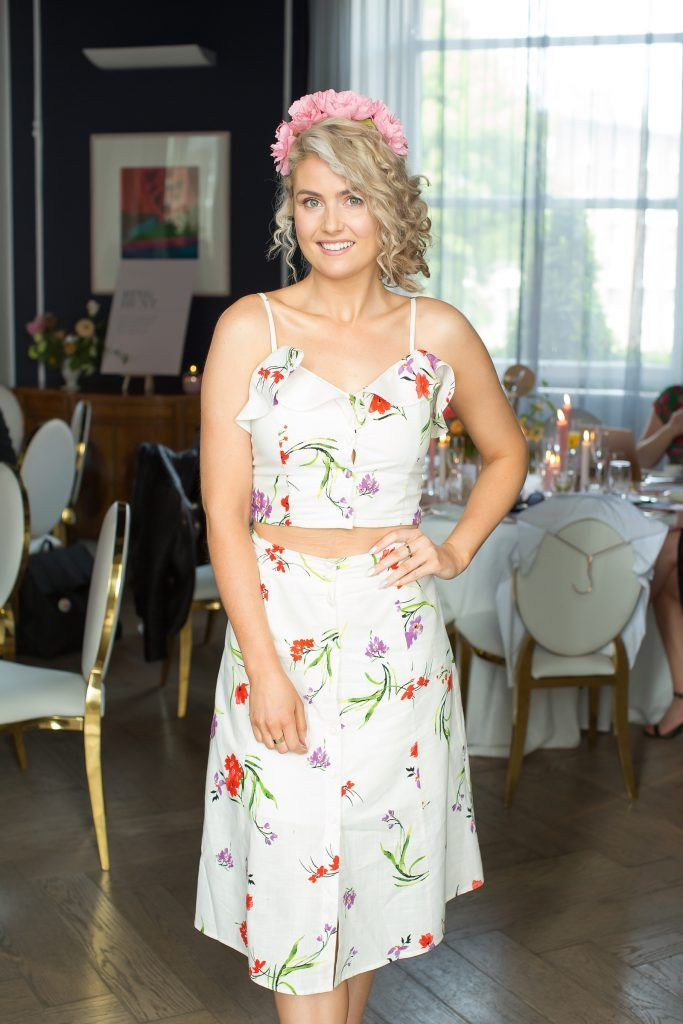 Dominique Nugent pictured at the Primark Bridal Brunch to celebrate the Royal Wedding at 25 Fitzwilliam Place. Photo: Anthony Woods