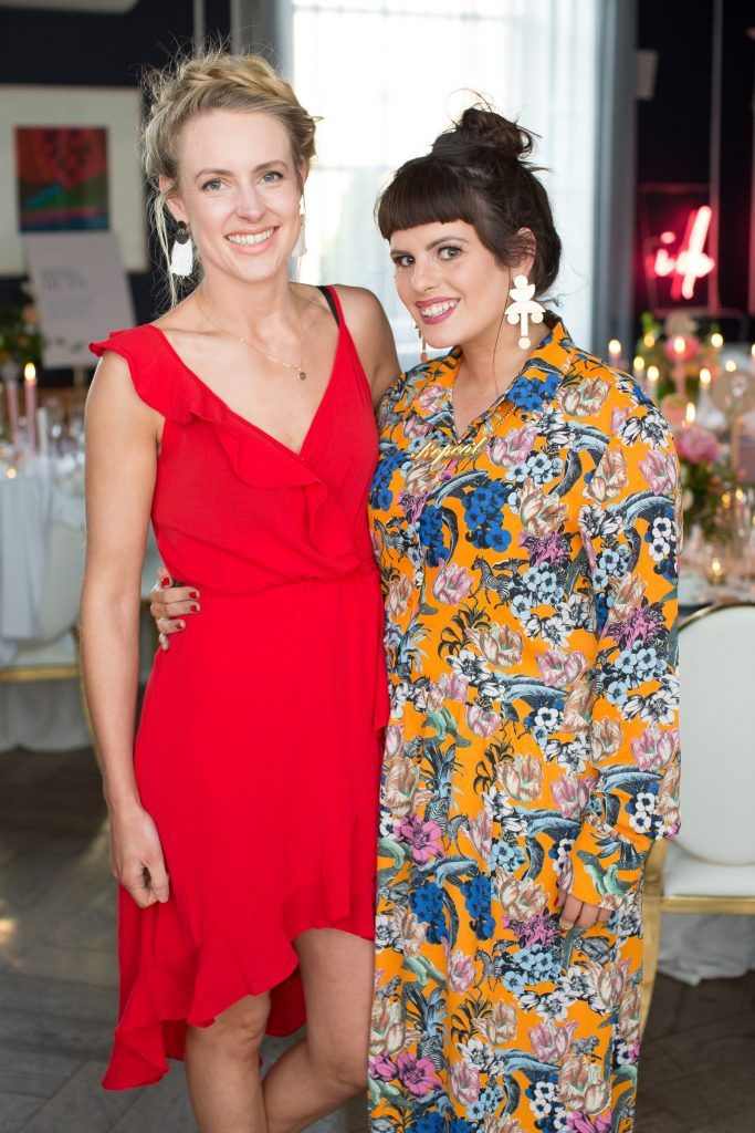 Emma Coogan & Sooby Lynch pictured at the Primark Bridal Brunch to celebrate the Royal Wedding at 25 Fitzwilliam Place. Photo: Anthony Woods