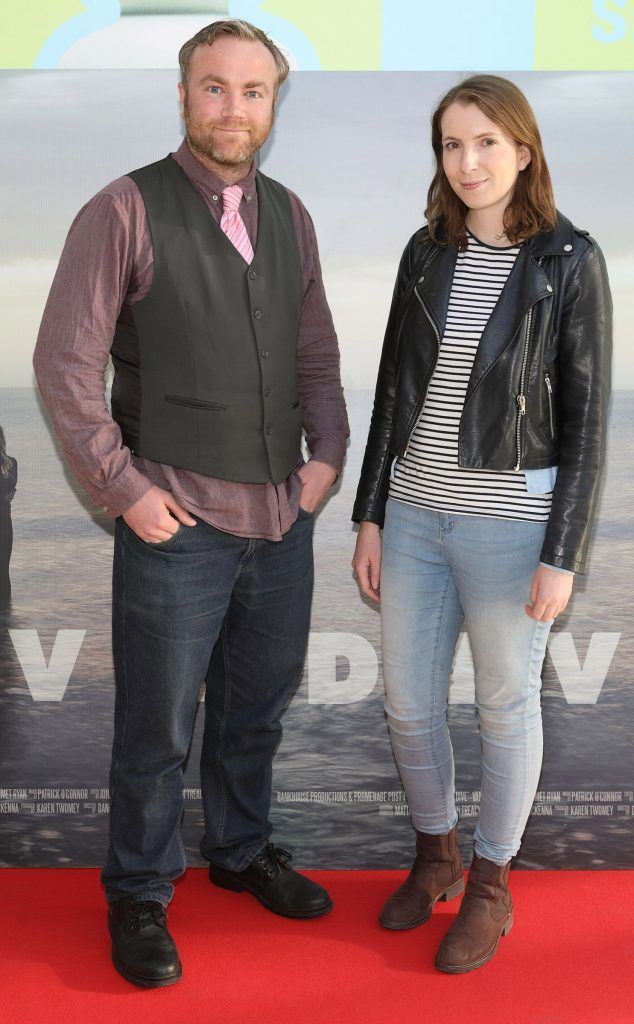 Aidan O'Sullivan and Claire Millane pictured at the premiere of the new Irish film DIVE at Omniplex Rathmines, Dublin. Photo by Brian McEvoy