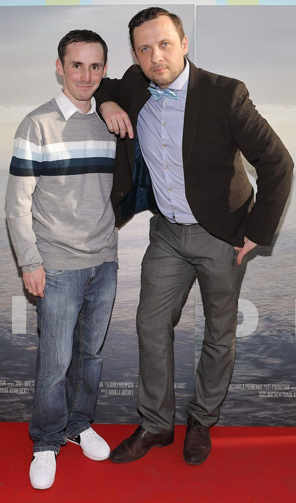 Emmet Ryan and Lucas Kozanecki pictured at the premiere of the new Irish film DIVE at Omniplex Rathmines, Dublin. Photo by Brian McEvoy