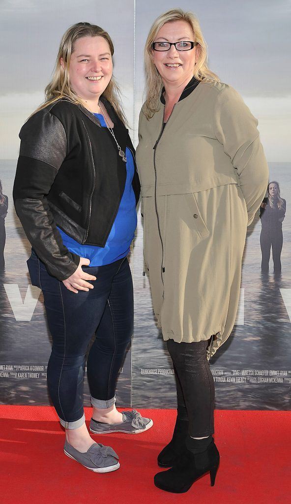 Fionnuala McAuley and Helen Walsh pictured at the premiere of the new Irish film DIVE at Omniplex Rathmines, Dublin. Photo by Brian McEvoy
