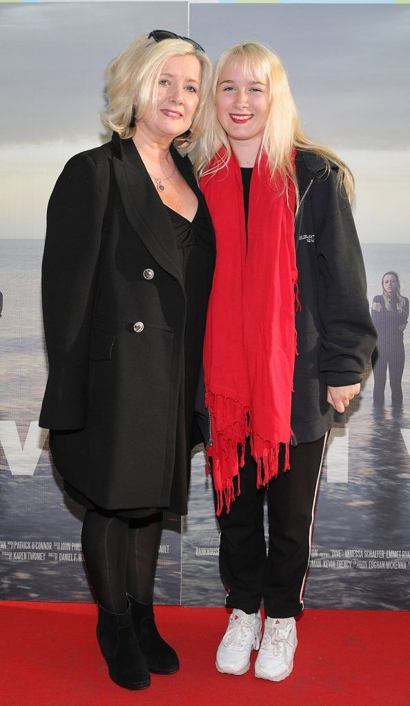 Jill Doyle and Ruby McAlister pictured at the premiere of the new Irish film DIVE at Omniplex Rathmines, Dublin. Photo by Brian McEvoy