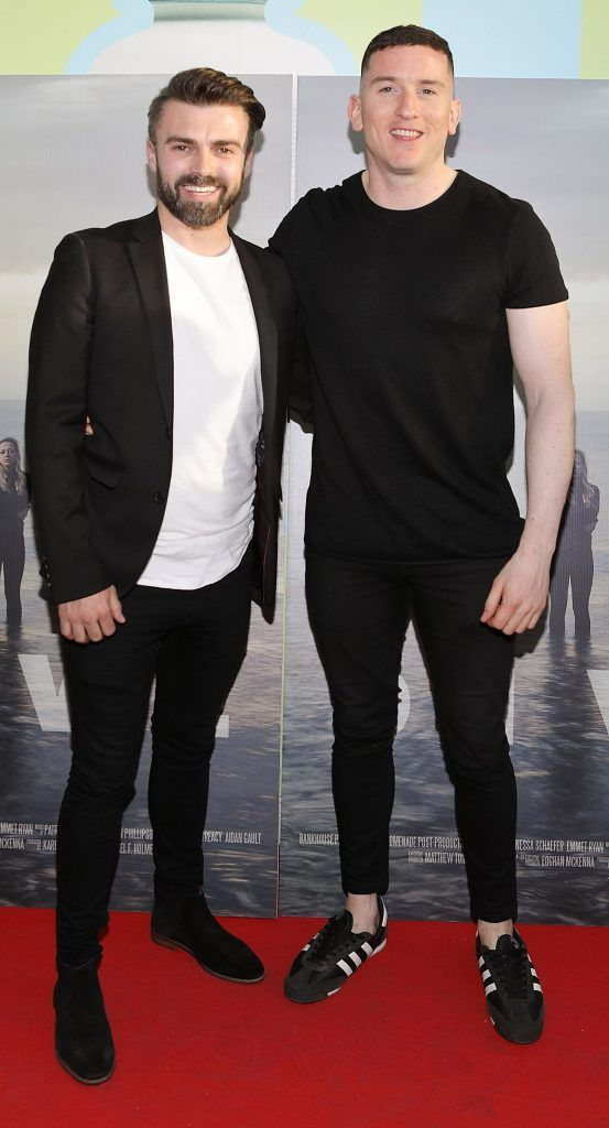 Mattew Toman and Evan Doherty pictured at the premiere of the new Irish film DIVE at Omniplex Rathmines, Dublin. Photo by Brian McEvoy
