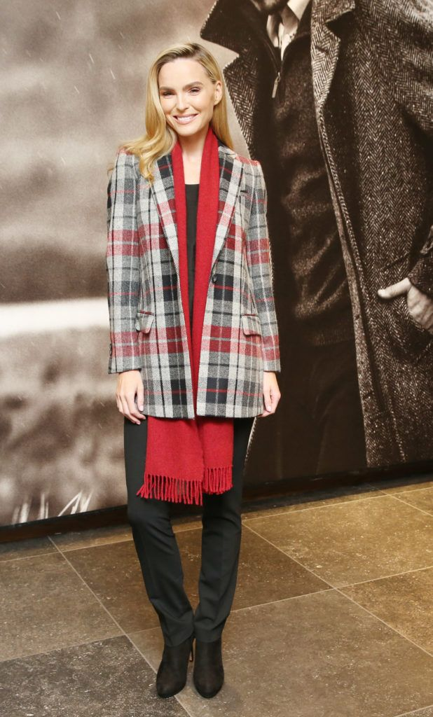 Sarah Morrissey pictured at the launch of the Magee 1866 autumn/winter collection at Magee of South Anne Street, Dublin 2. Photo: Leon Farrell