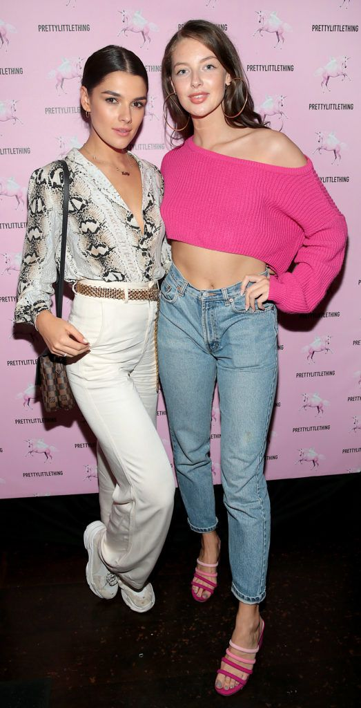 Kelly Horigan and Audrey Ryan at the Pretty Little Thing Summer Party at Zozimus, Dublin. Picture: Brian McEvoy