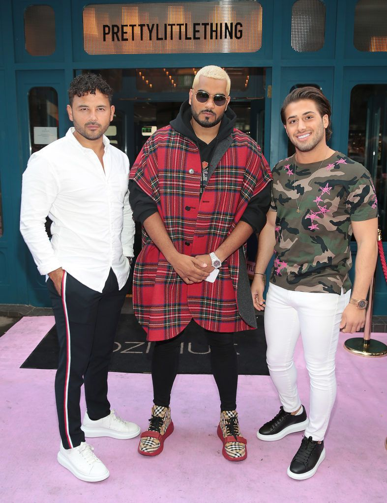 Ryan Thomas. Umar Kamani and Love Islands Kem Centinay at the Pretty Little Thing Summer Party at Zozimus, Dublin. Picture: Brian McEvoy