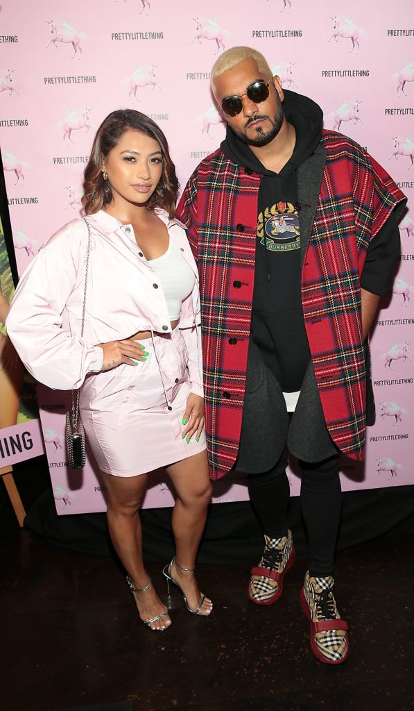 Vanessa White and Umar Kamani at the Pretty Little Thing Summer Party at Zozimus, Dublin. Picture: Brian McEvoy