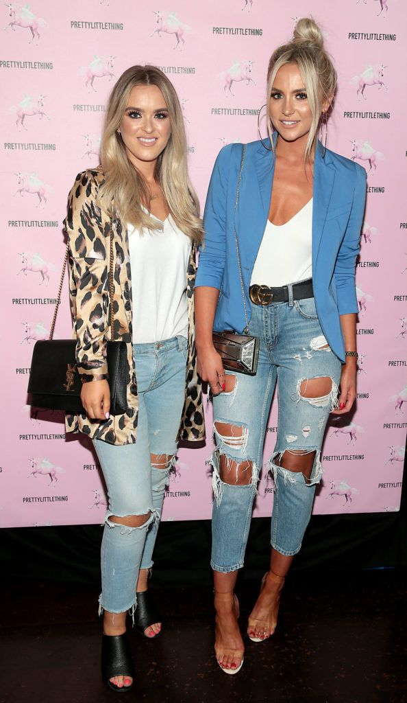 Shannon Howe and Naomi O Brien at the Pretty Little Thing Summer Party at Zozimus, Dublin. Picture: Brian McEvoy