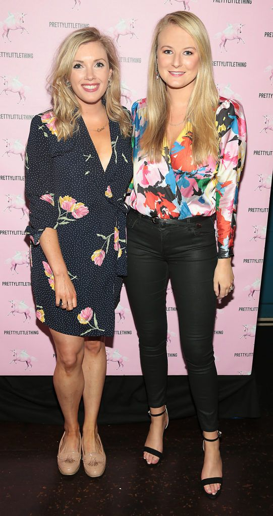 Ciara Hiney and Siabhra Walsh at the Pretty Little Thing Summer Party at Zozimus, Dublin. Picture: Brian McEvoy