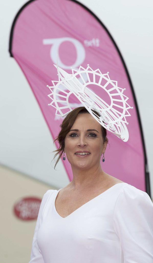 Caitriona King Milliner pictured at The G Hotel best dressed at the Galway races. Photo: Andrew Downes