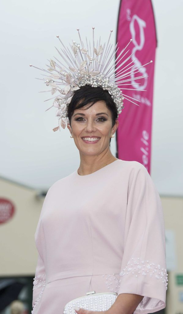 Suzanne Burke pictured at The G Hotel best dressed at the Galway races. Photo: Andrew Downes