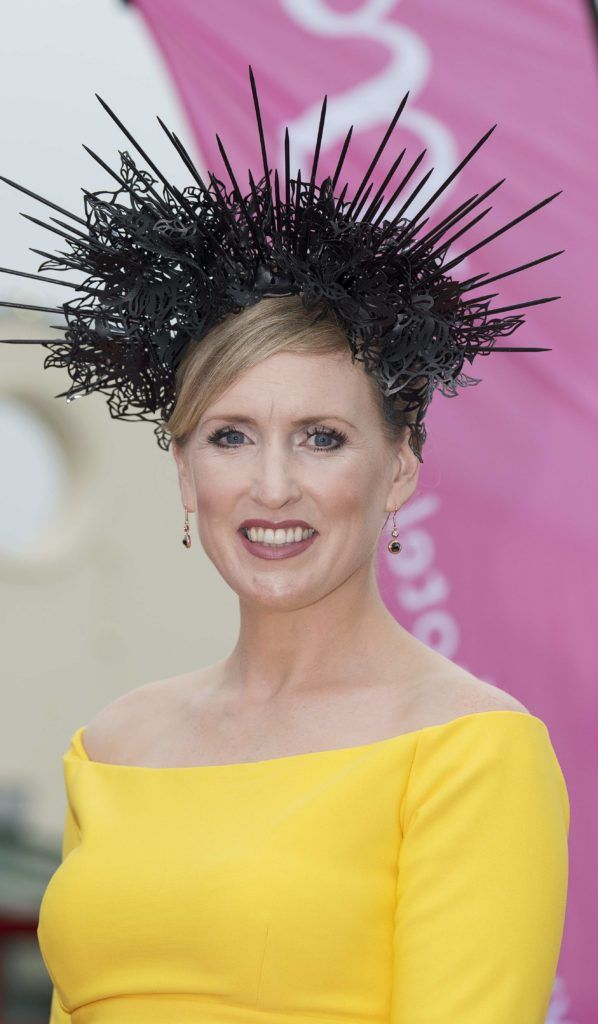 Tara Lally pictured at The G Hotel best dressed at the Galway races. Photo: Andrew Downes