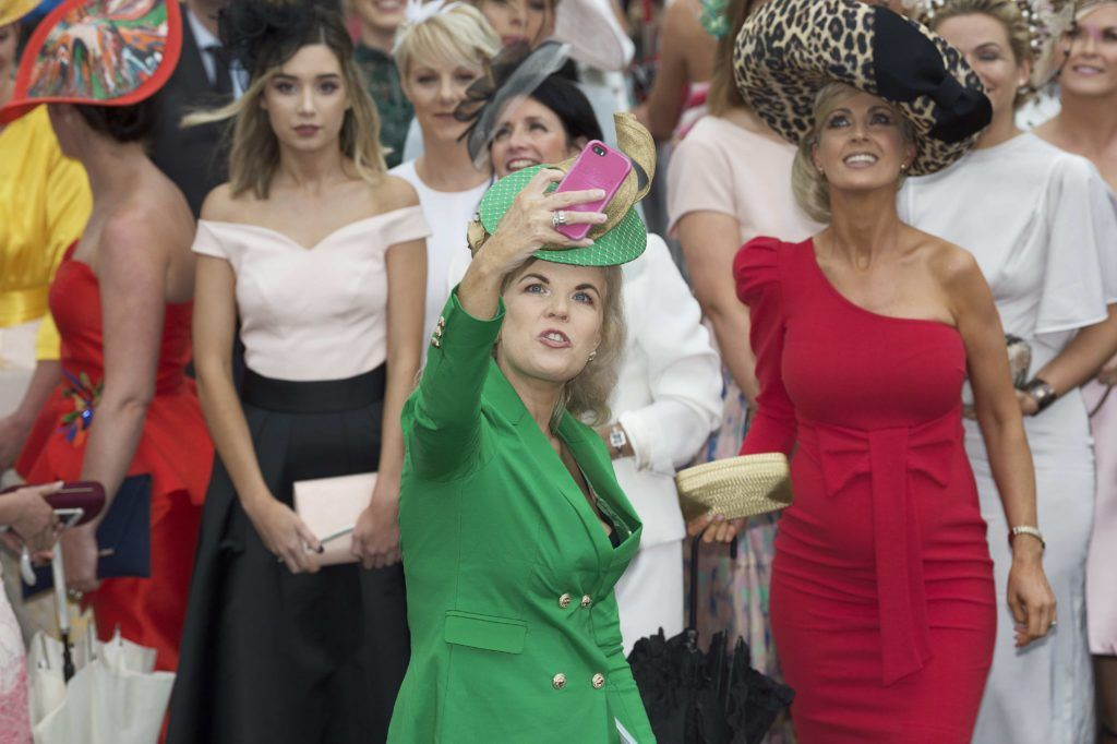 Marietta Doran pictured at The G Hotel best dressed at the Galway races. Photo: Andrew Downes