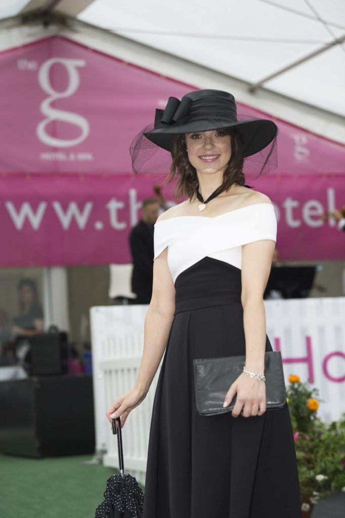 Esme Mansergh Wallace pictured at The G Hotel best dressed at the Galway races. Photo: Andrew Downes