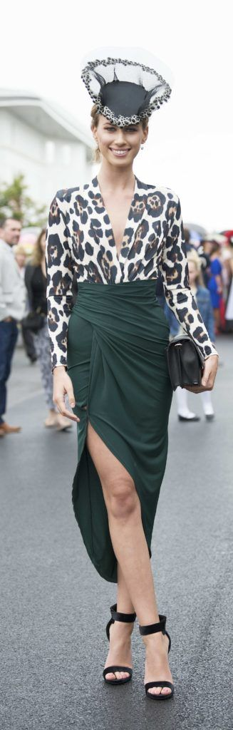 Eliska McAndrew pictured at The G Hotel best dressed at the Galway races. Photo: Andrew Downes