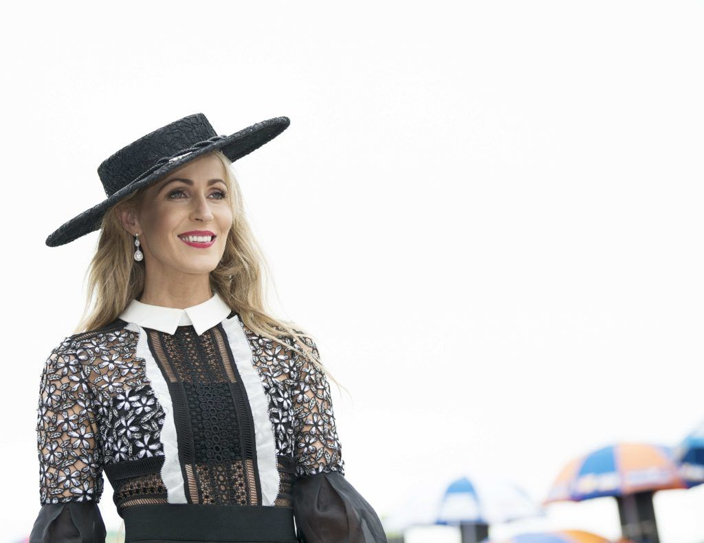 Mary Lee Gort pictured at The G Hotel best dressed at the Galway races. Photo: Andrew Downes