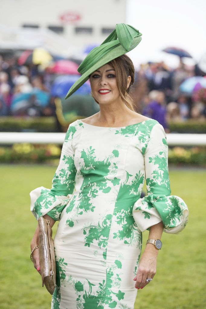Judge Mandy Maher pictured at The G Hotel best dressed at the Galway races. Photo: Andrew Downes
