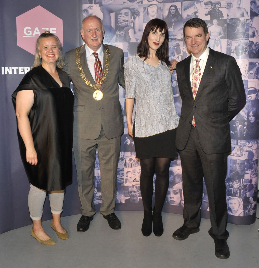 Sarah Williams (Chair of the board of GAZE), Lord Mayor of Dublin Nial Ring,Roisín Geraghty (Festival Programmer); and Australian Ambassador to Ireland Richard Andrews;  Pictured at the opening night of the GAZE Film Festival in Light House Cinema. Photos: Patrick O'Leary