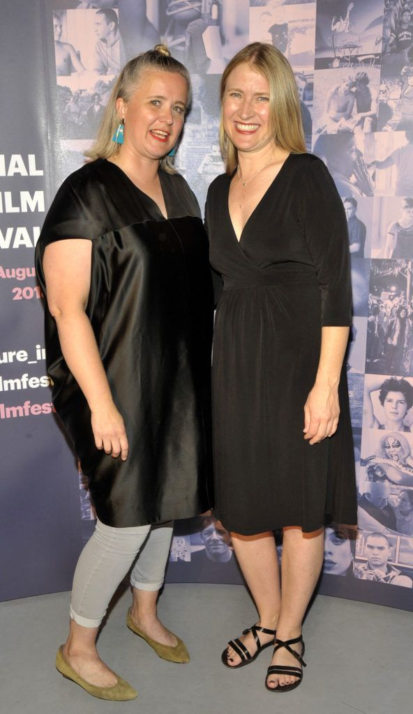 Sarah Williams (Chair of the board of GAZE)and Joanna Werner, producer of opening film Riot. Pictured at the opening night of the GAZE Film Festival in Light House Cinema. Photos: Patrick O'Leary