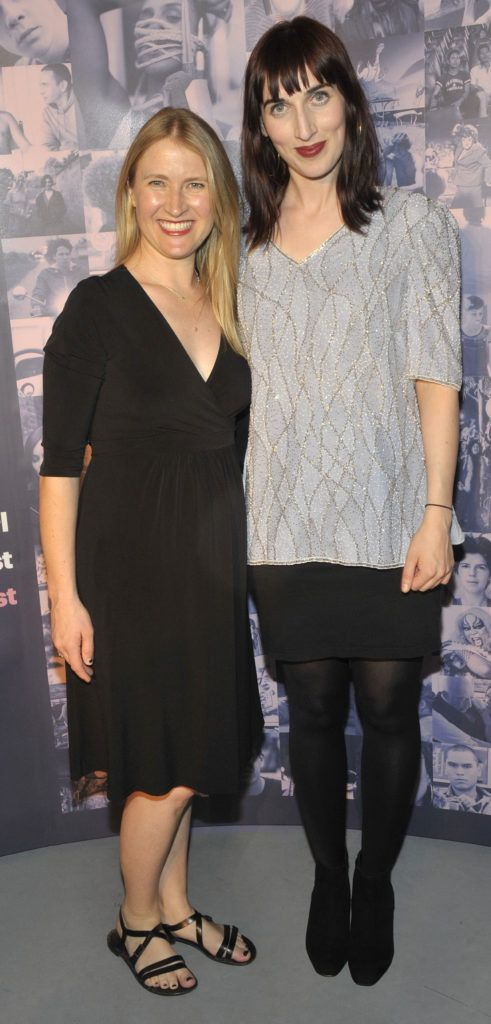 Joanna Werner, producer of opening film Riot.and Roisín Geraghty (Festival Programmer).  Pictured at the opening night of the GAZE Film Festival in Light House Cinema. Photos: Patrick O'Leary