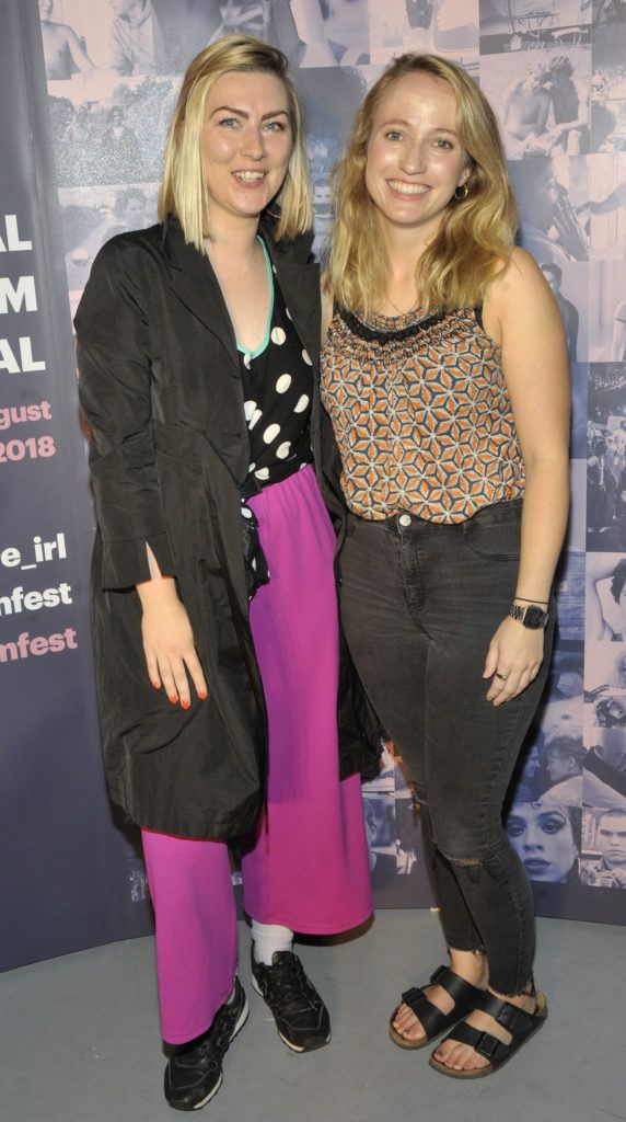 Clodagh Kelly and Louise Osborne Pictured at the opening night of the GAZE Film Festival in Light House Cinema. Photos: Patrick O'Leary