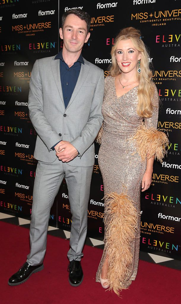 Graham Hastings and Amy Joyce Hastings at the final of Miss Universe Ireland 2018 at the Round Room of Dublin's Mansion House. Picture: Brian McEvoy.