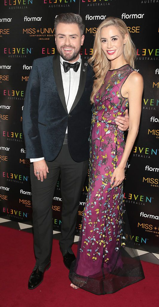 James Patrice and,Brittany Mason at the final of Miss Universe Ireland 2018 at the Round Room of Dublin's Mansion House. Picture: Brian McEvoy.