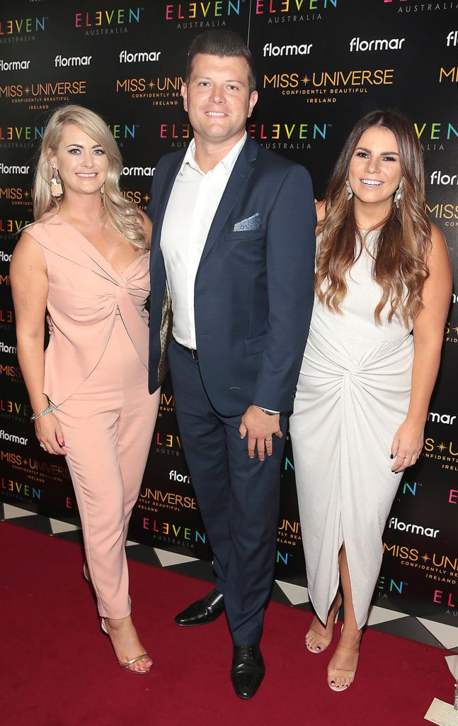 Anita Donoghue ,Will McCreevy and Ciara Maher at the final of Miss Universe Ireland 2018 at the Round Room of Dublin's Mansion House. Picture: Brian McEvoy.