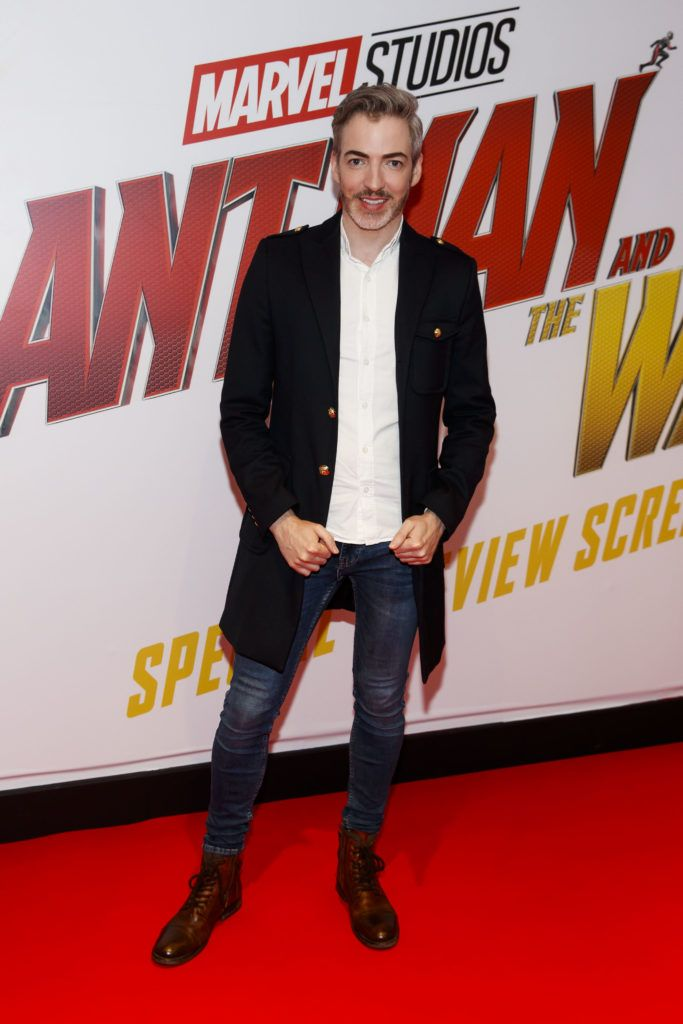 Dillon St. Paul pictured at the Marvel Studios special preview screening of ANT MAN AND THE WASP in Cineworld IMAX Dublin. Picture Andres Poveda