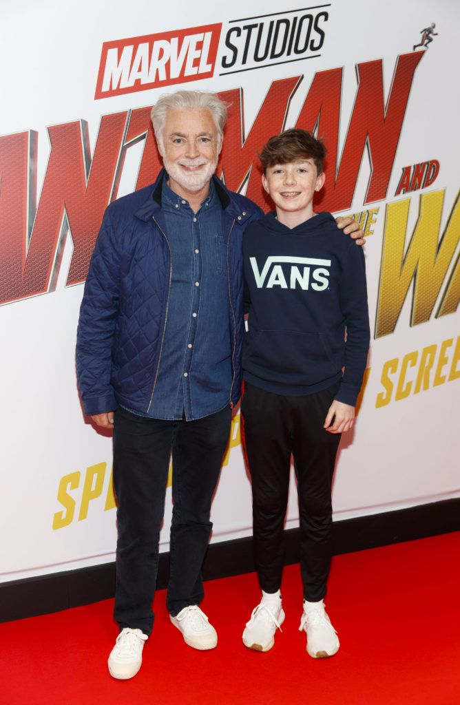 Eoin Colfer and Sean Colfer (15) arepictured at the Marvel Studios special preview screening of ANT MAN AND THE WASP in Cineworld IMAX Dublin. Picture Andres Poveda